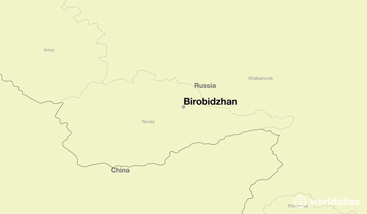 map showing the location of Birobidzhan