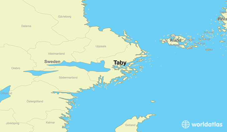 map showing the location of Taby