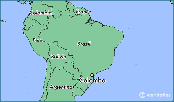 map showing the location of Colombo