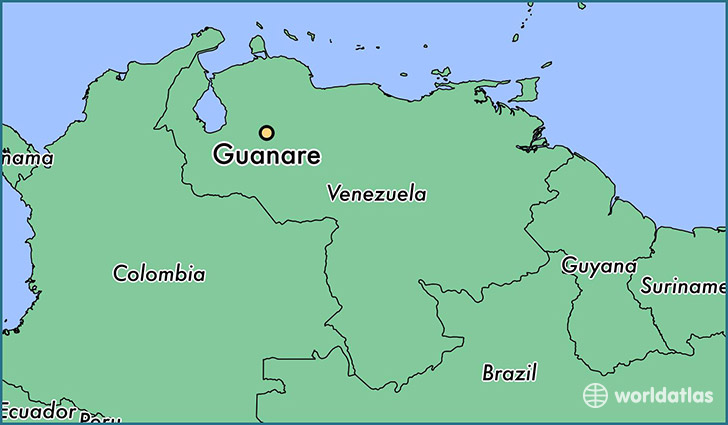 map showing the location of Guanare