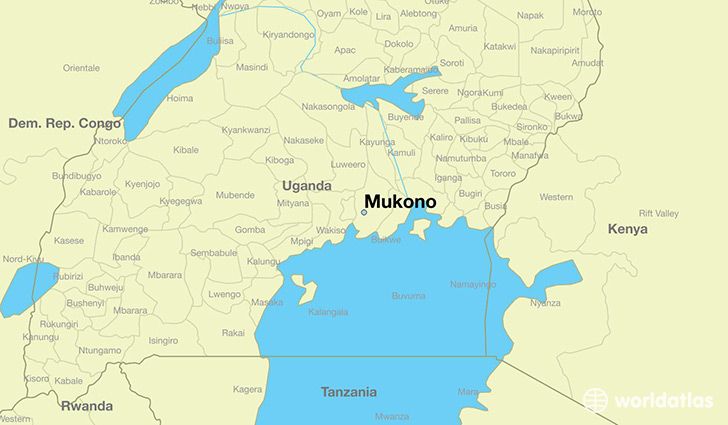 map showing the location of Mukono