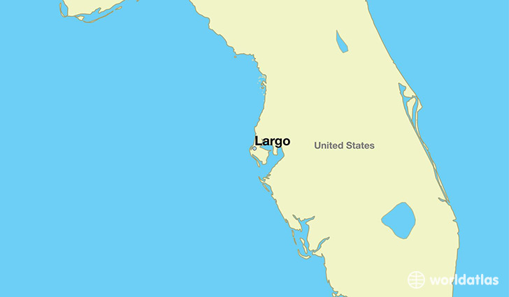 map showing the location of Largo