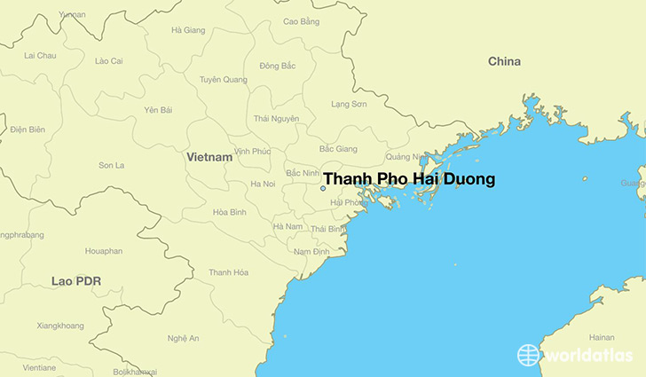map showing the location of Thanh Pho Hai Duong