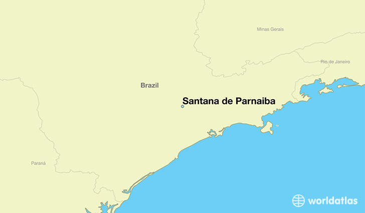 map showing the location of Santana de Parnaiba