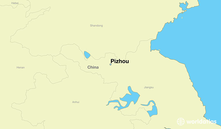 map showing the location of Pizhou