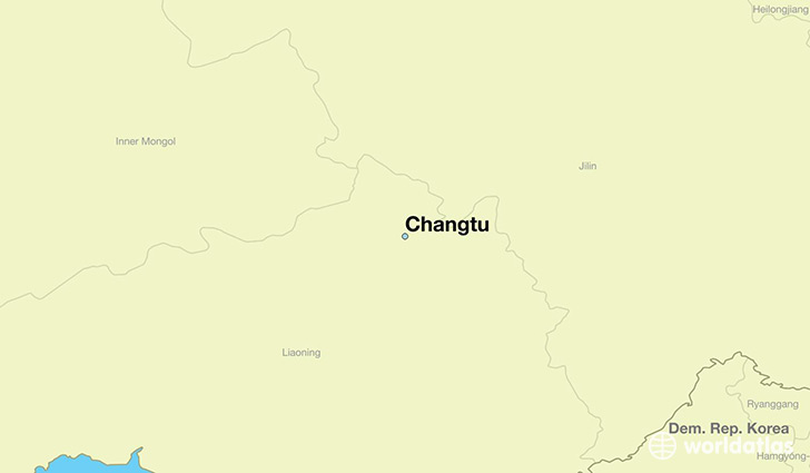 map showing the location of Changtu