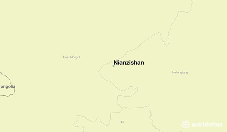 map showing the location of Nianzishan