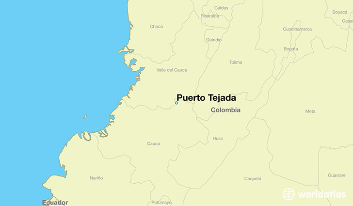 map showing the location of Puerto Tejada