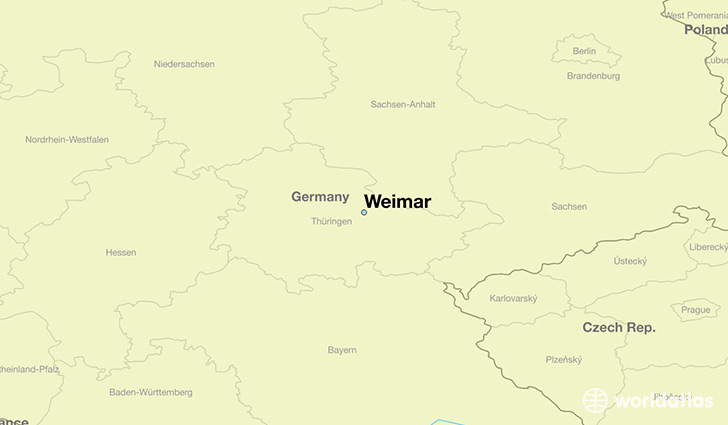 Where Is Weimar Germany Weimar Thuringia Map Worldatlas Com