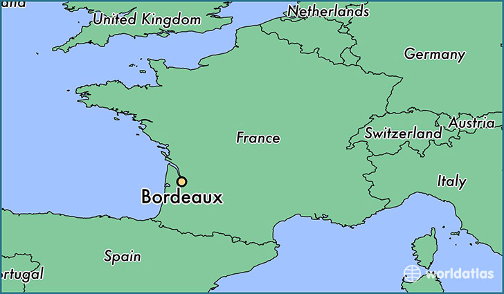Where is Bordeaux, France? / Bordeaux, Aquitaine Map   WorldAtlas.com