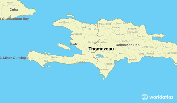 map showing the location of Thomazeau
