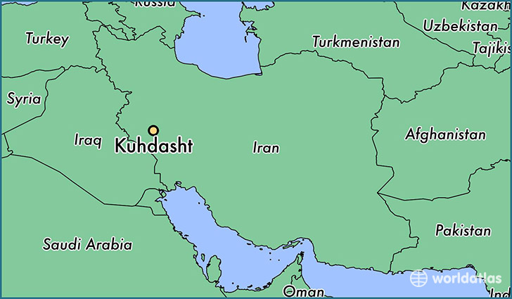 map showing the location of Kuhdasht