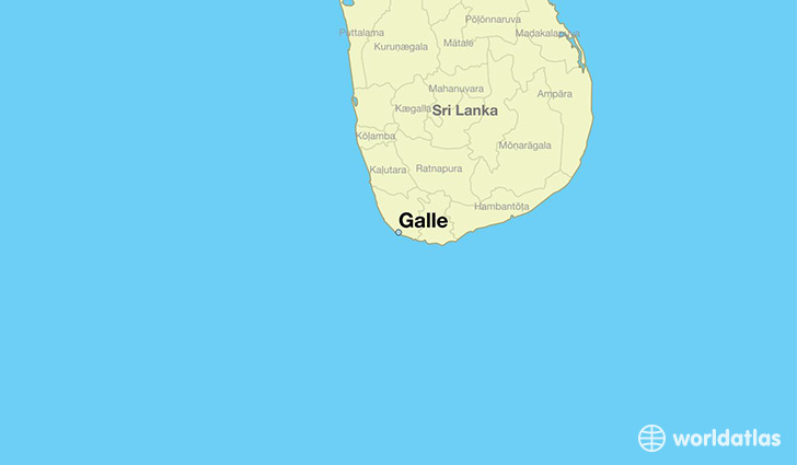 map showing the location of Galle