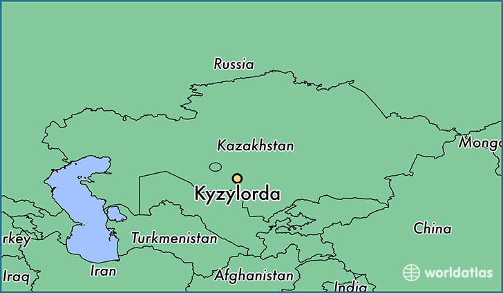 map showing the location of Kyzylorda