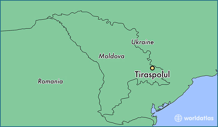 Where is Tiraspolul Moldova Tiraspolul Stinga Nistrului Map
