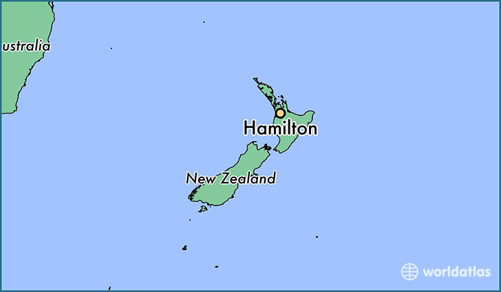 map showing the location of Hamilton