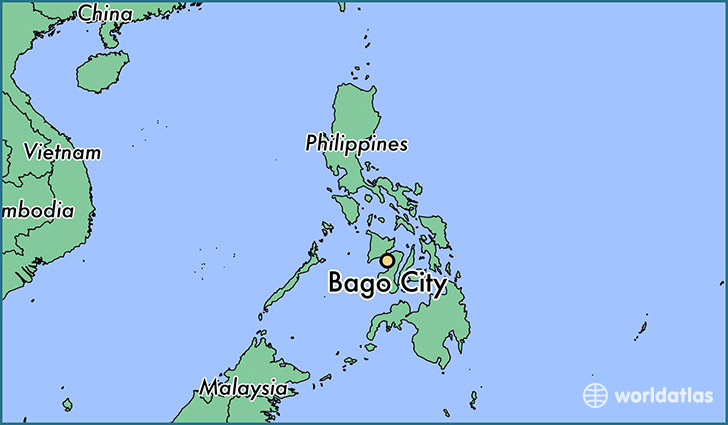 map showing the location of Bago City