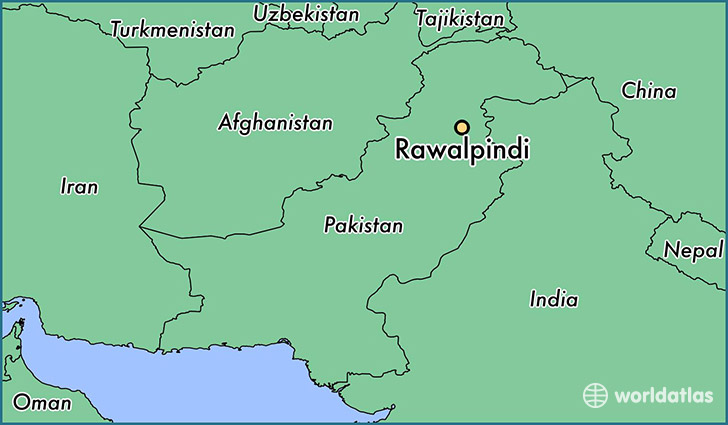 map showing the location of Rawalpindi
