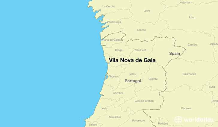 Where is Vila Nova de Gaia Portugal Vila Nova de Gaia Porto Map