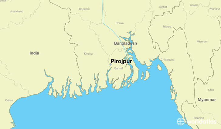 map showing the location of Pirojpur
