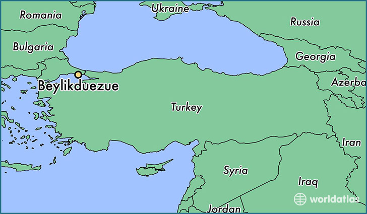 map showing the location of Beylikduezue