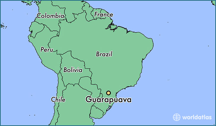 map showing the location of Guarapuava