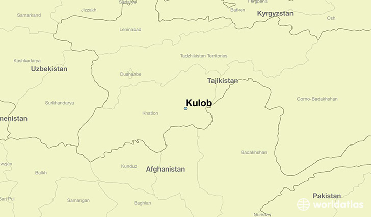 map showing the location of Kulob