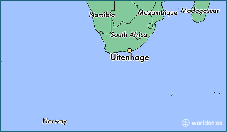 Where is Uitenhage South Africa Uitenhage Eastern Cape Map