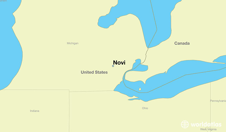 map showing the location of Novi