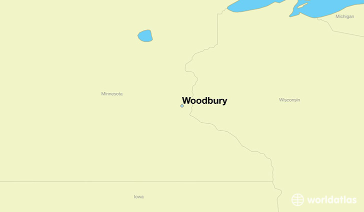 map showing the location of Woodbury