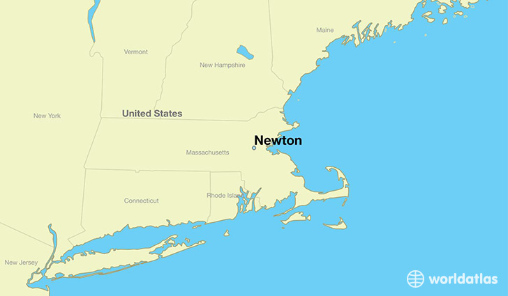map showing the location of Newton