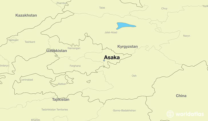 map showing the location of Asaka