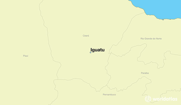 map showing the location of Iguatu