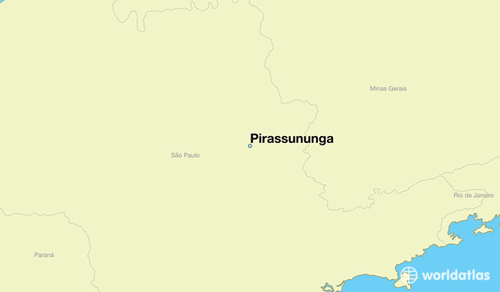map showing the location of Pirassununga