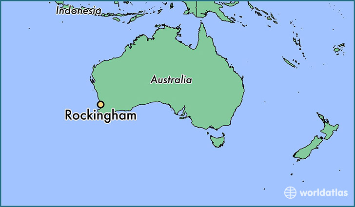 map showing the location of Rockingham