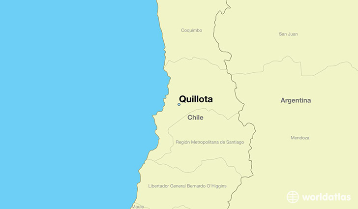 map showing the location of Quillota