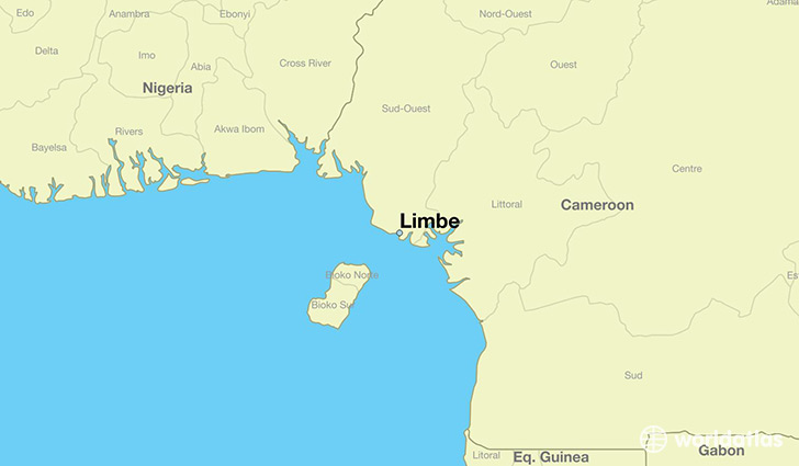 map showing the location of Limbe