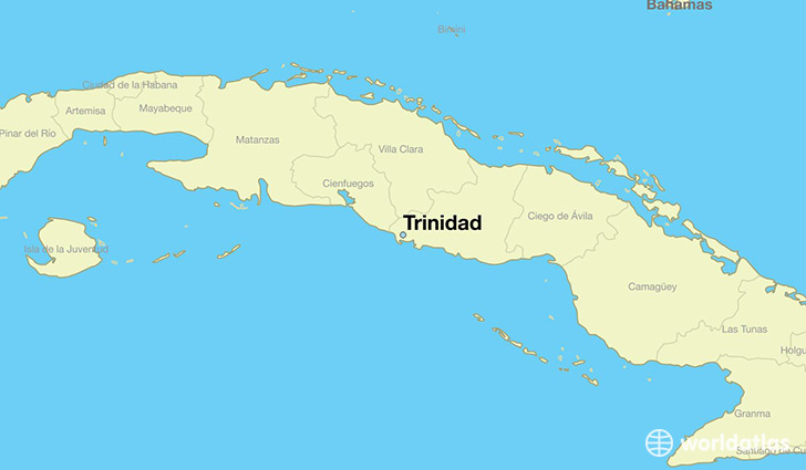 Where is trinidad cuba trinidad sancti spiritus map map showing the location of trinidad gumiabroncs Images