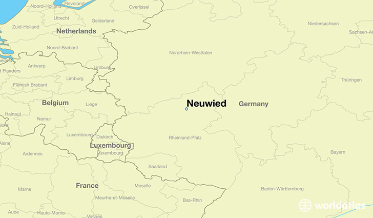 map showing the location of Neuwied