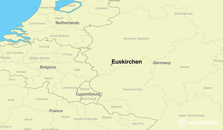 map showing the location of Euskirchen