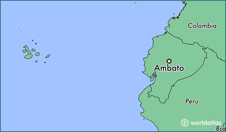 map showing the location of Ambato