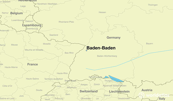 Where is BadenBaden Germany BadenBaden BadenWurttemberg Map