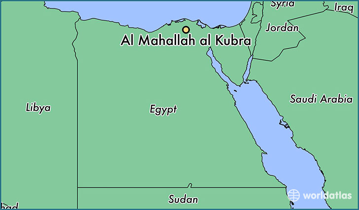 map showing the location of Al Mahallah al Kubra