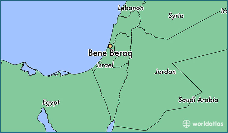 Where is Bene Beraq Israel Bene Beraq Tel Aviv Map WorldAtlascom