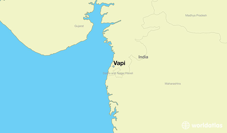 map showing the location of Vapi