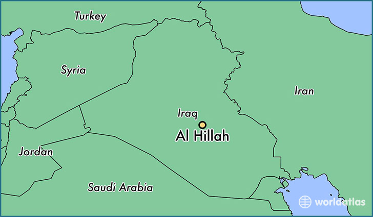 map showing the location of Al Hillah