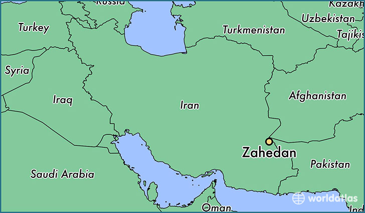 Where is Zahedan Iran Zahedan Sistan and Baluchestan Map