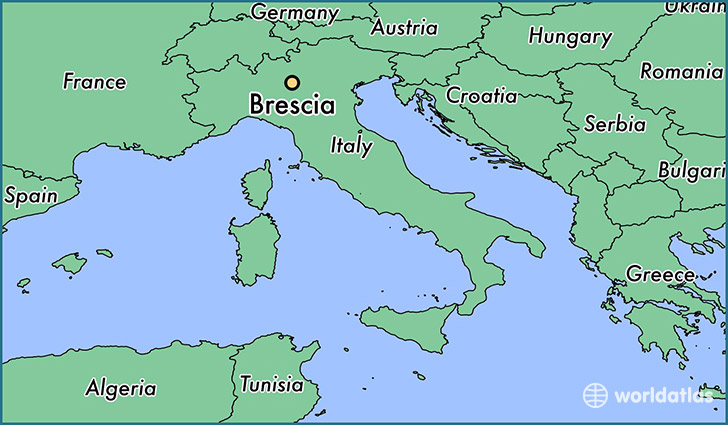 map showing the location of Brescia