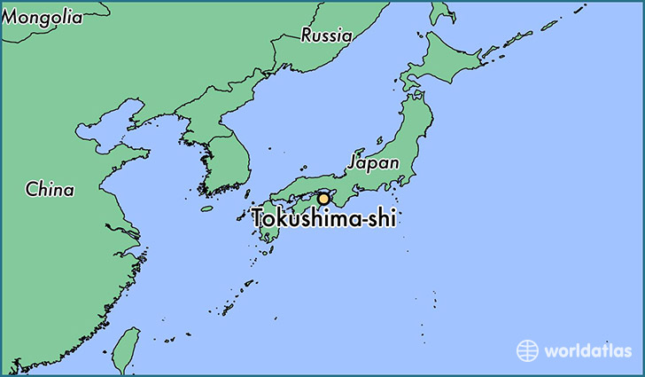 map showing the location of Tokushima-shi