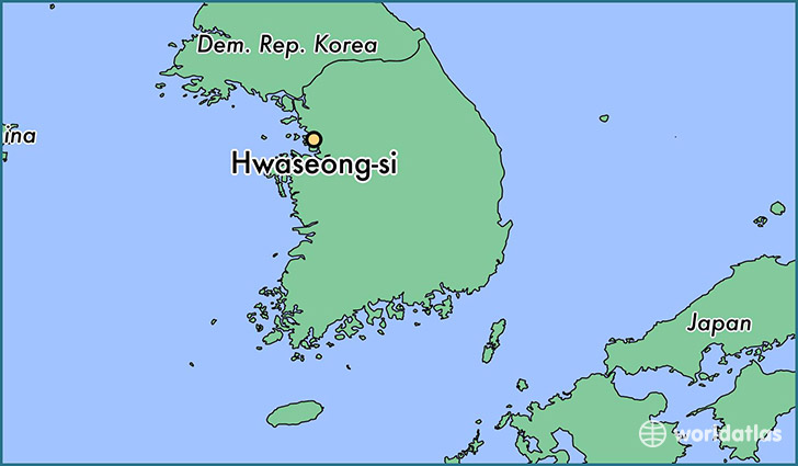 map showing the location of Hwaseong-si